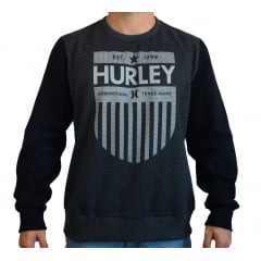 MOLETOM CARECA DISTANCE HURLEY